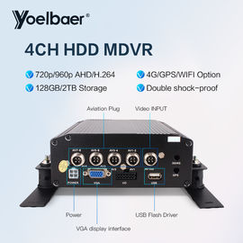 4CH HDD Mobile DVR Kartu SD CCTV Mobile DVR Dengan H.264 DVR Admin Password Reset